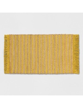 "Yellow Striped Jute Woven Fringed Accent Rug   2'3""X3'9""   Opalhouse™ by Shop All Opalhouse™"