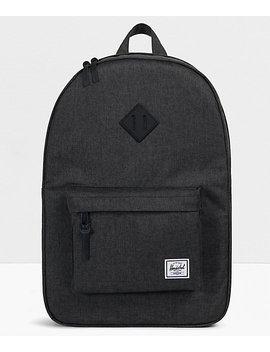 Herschel Supply Co. Heritage Black Crosshatch Backpack by Herschel Supply