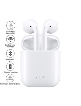 Indigi® Wireless & Cordless Stereo Bluetooth Mini Headphones / Earbuds / Earpods For I Os & Android + Charging Case by Indigi