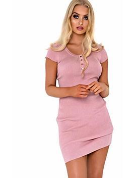 Ikrush Womens Emelia Button Knit Dress by Ikrush