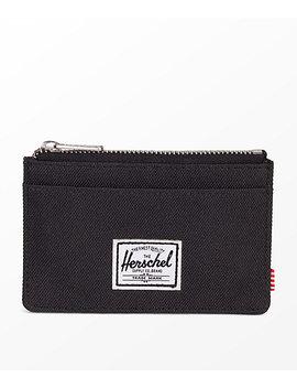 Herschel Supply Co. Oscar Black Zip Cardholder Wallet by Herschel Supply