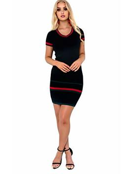 Ikrush Womens Maddison V Neck Knit Midi Dress by Ikrush