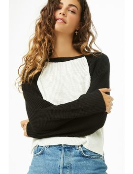 Colorblock Raglan Sweater by Forever 21
