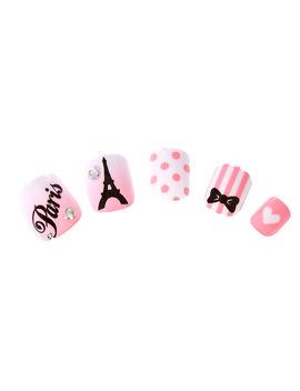 Kids Pink Paris Press On Nail False Nails by Claire's