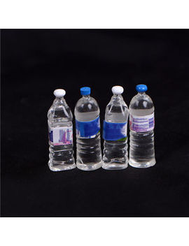 4 Pcs Dollhouse Miniature Bottled Mineral Water 1/6 1/12 Scale Model Home Deco Mc by Unbranded