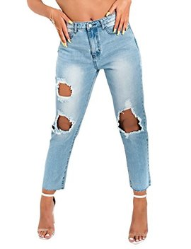 Ikrush Womens Astrid Distressed Mom Jeans by Ikrush