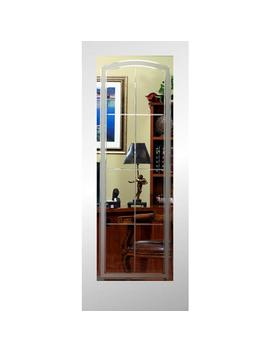 Relia Bilt Primed White 1 Panel Solid Core Etched Glass Wood Pine Slab Door (Common: 32 In X 80 In; Actual: 32 In X 80 In) by Lowe's