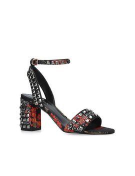 Carvela   Red 'gill' Mid Heel Sandals by Carvela