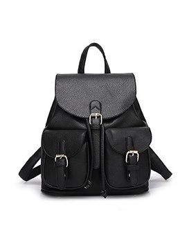 Jonon Women's Leather Backpack Soft & Fashion Leather Lovely Backpack Cute School Bag For Girls by Jonon