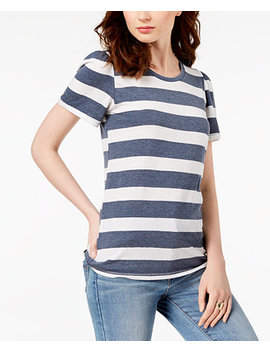 Striped Puffed Sleeve Top by Lucky Brand