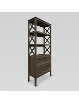 3 Shelf X Bookcase With Drawers   Threshold™ by Shop This Collection