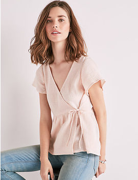 Gauze Wrap Top by Lucky Brand