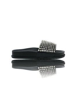 Ikrush Womens Leah Embellished Sliders by Ikrush
