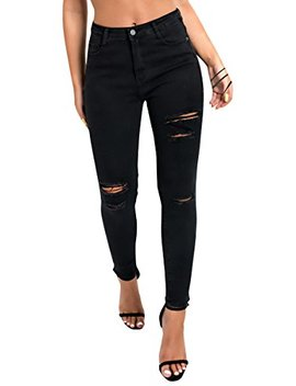 Ikrush Womens Miyah Ripped Skinny High Rise Jeans by Ikrush