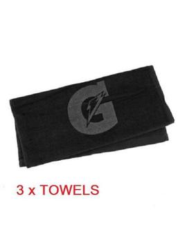 3   Gatorade Sport Towels Black Golf Baseball Basketball Football Tone On Tone by Towel Specialities