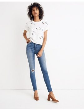"10"" High Rise Skinny Jeans: Drop Step Hem Edition by Madewell"