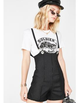 Party Conductor Pinstripe Shortalls by Better Be