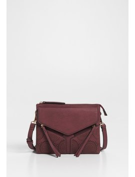 Laser Cut Cross Body Bag by Maurices