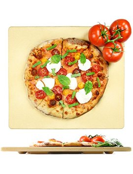 """Crustina Pizza Stone Rectangular   14"""" X 16""""   Baking Stone, Best Pizza Stone For Oven And For Pizza On The Grill, Pizza Cooking Stone Fits All Standard Oven And Bbq by Crustina"""