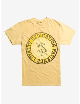 Harry Potter Hufflepuff Oil Wash T Shirt Hot Topic Exclusive by Hot Topic