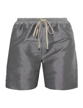 Silk Taffeta Shorts by Rick Owens