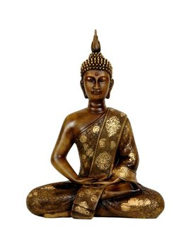 "11"" Thai Sitting Buddha Statue by Oriental Furniture"