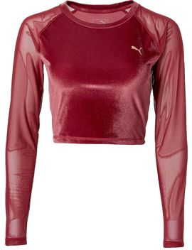 Puma Women's Explosive Velvet Crop Top by Puma