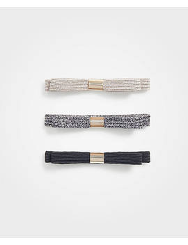 Metallic Bow Hair Tie Pack by Ann Taylor