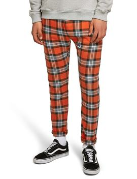 Terry Check Skinny Pants by Topman