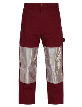 Reflective Panel Cotton Blend Work Trousers by Junya Watanabe
