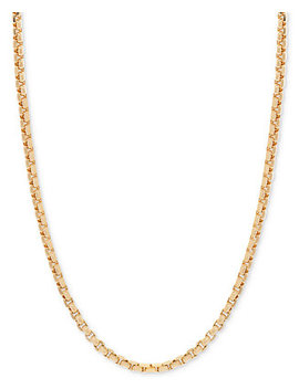 """24"""" Round Box Link Chain Necklace In 14k Gold by Macy's"""
