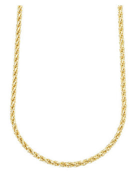 """14k Gold Necklace, 30"""" 3mm Twist Rope Polished Chain by Macy's"""