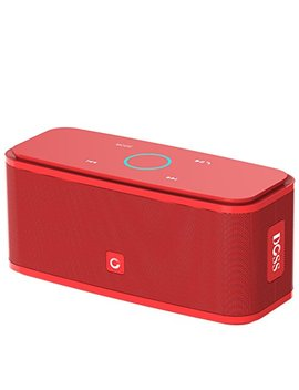 Doss Sound Box Bluetooth Speaker, Portable Wireless Bluetooth 4.0 Touch Speakers 12 W Hd Sound Bold Bass, Handsfree, 12 H Playtime Phone, Tablet, Tv, Gift Ideas[Red] by Doss