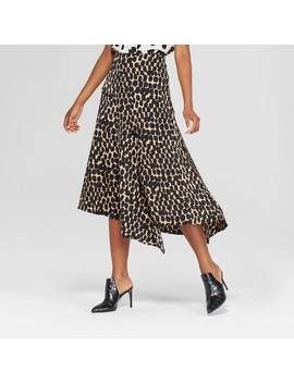 Women's Seamed Asymmetric Hem Slip Skirt   Who What Wear™ by Shop All Who What Wear