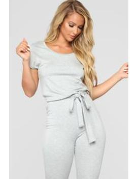 Hug Me Tight Jumpsuit   Heather Grey by Fashion Nova