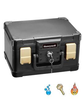 0.15 Cu. Ft. Molded Fire/Water Chest With Key And Latch Lock by Honeywell