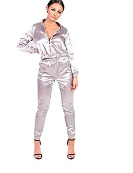 Ikrush Womens Kourtney Satin Stripe Tracksuit by Ikrush