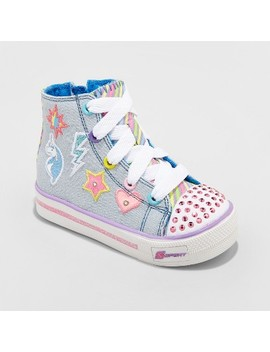 Toddler Girls' S Sport By Skechers Glimmer Stars High Top Light Up Sneakers by Shop All S Sport By Skechers
