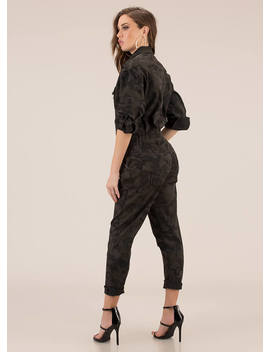 Werk Uniform Camo Utility Jumpsuit by Go Jane