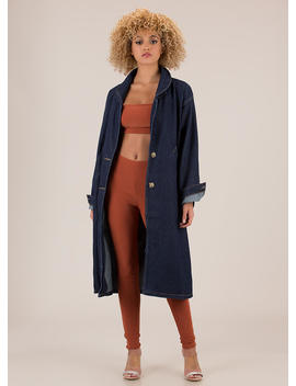 Chic For Yourself Denim Trench Coat by Go Jane