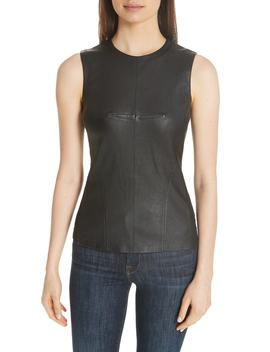 Seamed Leather Shell by Theory