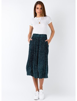 Nebula Maxi Skirt Green by Princess Polly