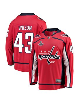 Tom Wilson Washington Capitals 2018 Stanley Cup Champions Home Breakaway Player Jersey – Red by Fanatics