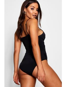 Twist Front Plunge Body by Boohoo