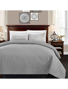 Alpha Home Lightweight Bedspread King Size Summer Blanket Bed Quilt, Grey by Alpha Home