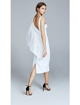 Draped Fringe Pencil Dress by Cushnie Et Ochs
