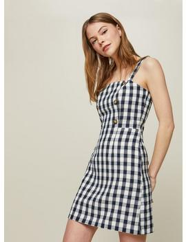 Gingham Pinafore Dress by Miss Selfridge