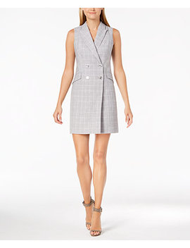 Plaid Trench Dress by Calvin Klein
