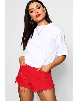 Elasticated Crop T Shirt by Boohoo
