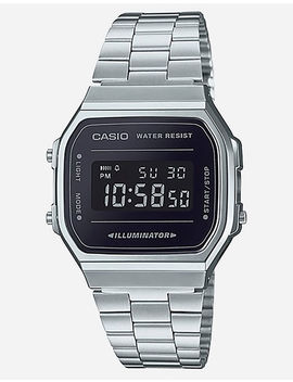 Casio Vintage A168 Wem 1 Silver & Black Watch by Casio